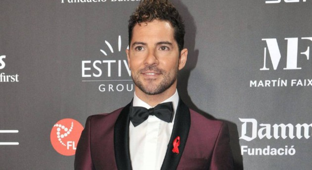 David Bisbal en la gala de People in Red, en Barcelona, el lunes.
