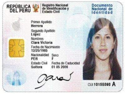 Dni Electr 243 Nico Para Peruanos Desde El 2010